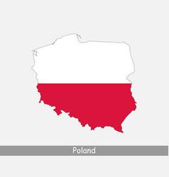 Poland map flag vector