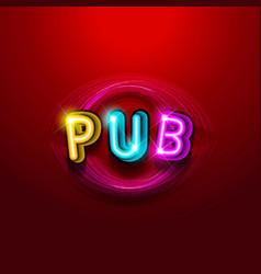 Pub announcement poster vector