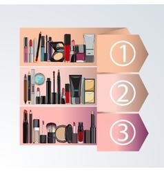 Rating decorative cosmetics vector