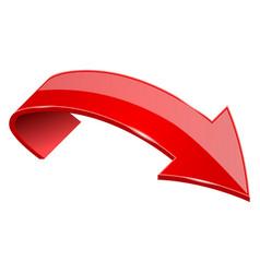 Red shiny 3d arrow vector
