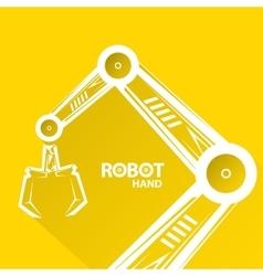 Robotic arm symbol robot hand vector