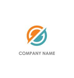 round circle abstract company logo vector image