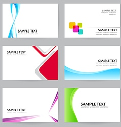 Set of 20 NameCard Template Set 01 vector image