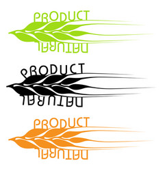 Set of emblems of natural products vector