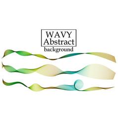 set of fluid colorful shapes liquid wave vector image