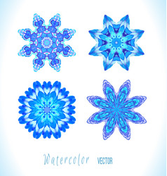 set of snowflakes fractals vector image