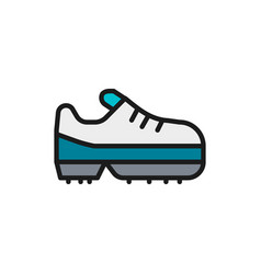 Spiked football boot game equipment flat color vector