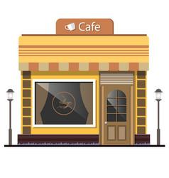 Street cafe flat design concept vector