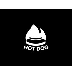Street food restaurant cafe ogo design template vector image