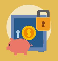 Stronbox security money vector