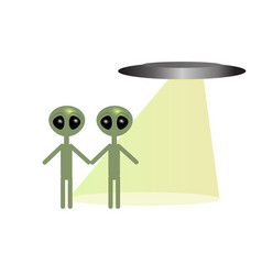 Ufo and aliens vector