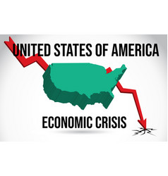United states of america map financial crisis vector