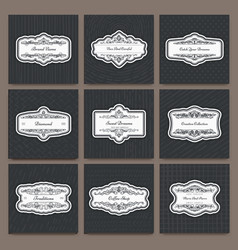 vintage creative design templates vector image