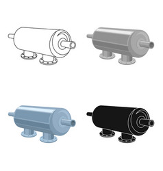 Water filter machine icon in cartoon style vector