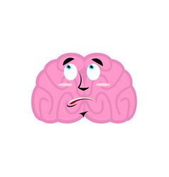 Brain surprised emotion human brains emoji vector