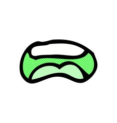 comic cartoon mouth vector image vector image