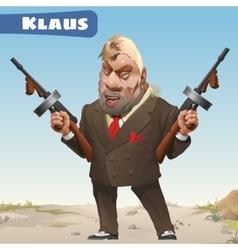 Fictional character - bandit Klaus vector image