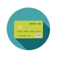 Icon credit bank card in a flat style with shadow vector image vector image