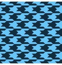 Pattern with black figures on a blue background vector image vector image