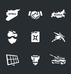 set of antiterrorist operation icons vector image vector image
