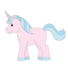 UnicornColored baby toy vector image