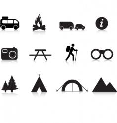 Camping logos vector
