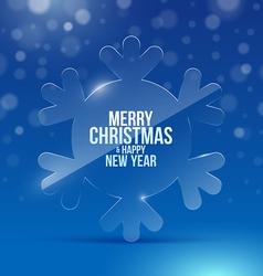Christmas design with glass snowflake vector image vector image