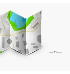 City map page with copyspace vector image