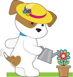 Cute Puppy Plant vector image vector image