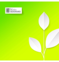 Eco origami leaf vector image
