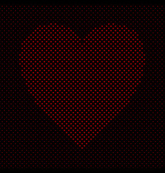 heart shaped pattern background design from red vector image
