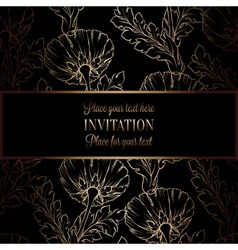 Invitation decorative golds 48 vector
