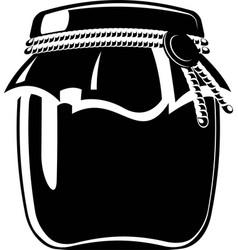 jar of jam vector image vector image
