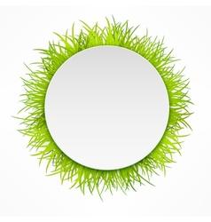 Round grass icon vector image