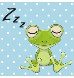 Sleeping Frog vector image vector image