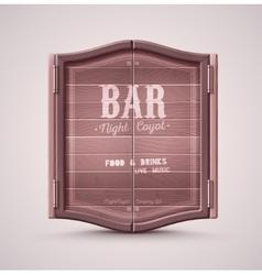 Bar Doors vector image vector image