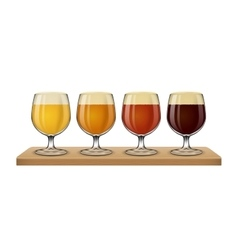 Beer light on white background vector image vector image