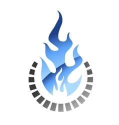 Blue colored gas flame vector image