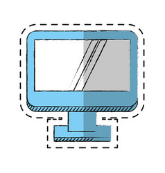 cartoon computer screen device technology vector image vector image