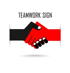 Handshake abstract sign design vector image
