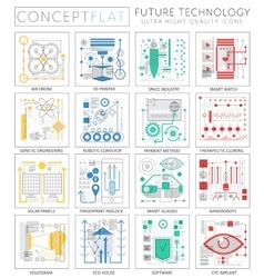 Infographics mini concept Future technology icons vector image vector image