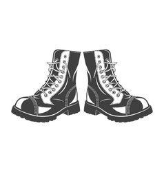 Military jump boots vector image