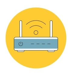 Wifi router outline icon flat vector image vector image