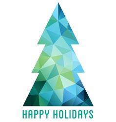Abstract polygon Christmas tree vector image vector image