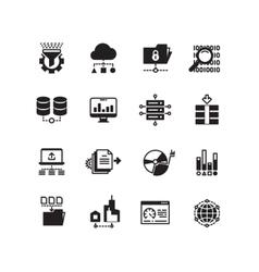 Big data database analytics cloud computing vector image