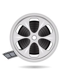 cinema film tape on disc vector image