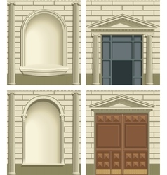 Classic exterior facade elements vector image vector image