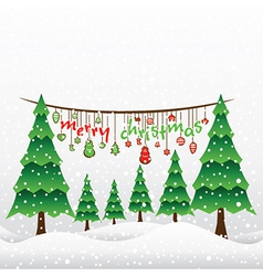 creative merry christmas greeting card design vector image