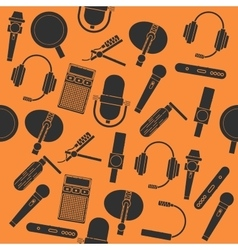 Different microphones types collage vector image vector image