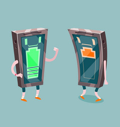 mobile phone full low battery charge energetic vector image